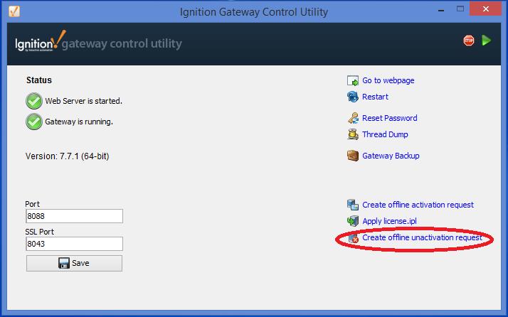 Offline Update License Procedure / Offline Unactivation and
