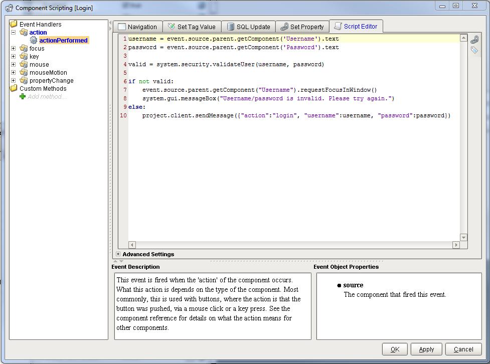 Component Scripting