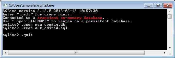 Reading SQL file into a new SQLite DB