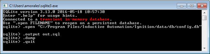 Dumping SQLite database into a SQL file